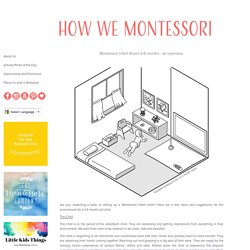 how we montessori: Infant grasping materials