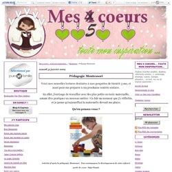 Pédagogie Montessori - Mes 5 coeurs... toute mon inspiration...