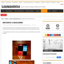 Montessori DIY: il cubo del binomio « Lapappadolce Lapappadolce