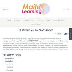 Montessori Lesson Plans – Maitri Learning