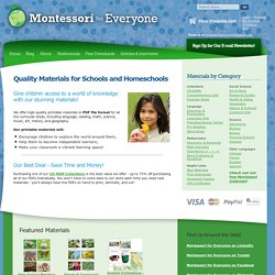Montessori Materials from Montessori for Everyone