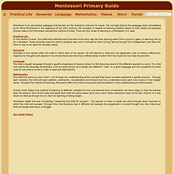 Montessori AMI Primary Guide: Discover Practical, Sensorial, Language and Mathematic Exercises