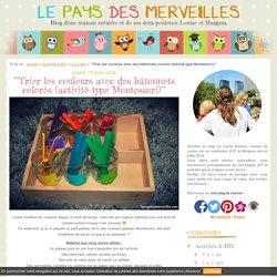 °°Trier les couleurs avec des bâtonnets colorés (activité type Montessori)°° - Le pays des merveilles.com