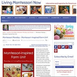 Montessori Monday – Montessori-Inspired Farm Unit