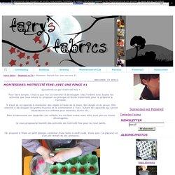 Montessori: Motricité fine: Avec une pince #1 - fairy's fabrics