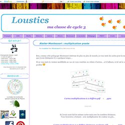 Atelier Montessori : multiplication posée