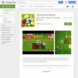 Montessori Nature – Applications sur GooglePlay