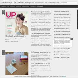 """Montessori """"En Ce Nid"""": Montessori en école publique"""