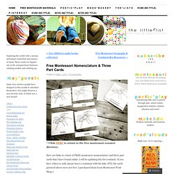 Free Montessori Nomenclature & Three Part Cards | the little list