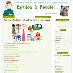 Matériel Montessori et autres outils pédagogiques