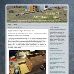 Jack in CT: Adventure & Ennui: My DIY Montessori Object Permanence Box