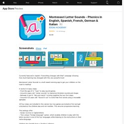 Montessori Letter Sounds - Phonics in English, Spanish, French, German & Italian on the AppStore