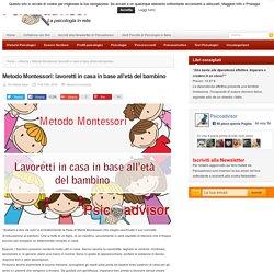 Metodo Montessori: lavoretti in casa in base all'età del bambino - Psicoadvisor