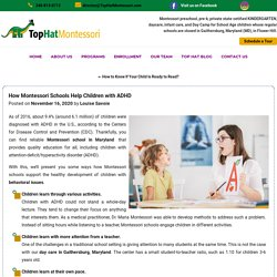 How Montessori Schools Help Children with ADHD