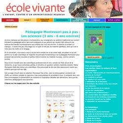 Montessori : sciences 3-6 ans