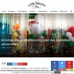 Activités d'éveil Montessori: créer des bouteilles sensorielles
