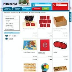 Montessori / Matériaux sensoriels / Apprendre & Jouer / Ecole maternelle & Crèche