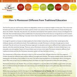 Blog : How Is Montessori Different from Traditional Education - Walnut Montessori