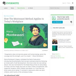 How the Montessori Method Applies to Today's Workplace