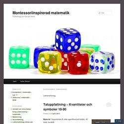 Montessoriinspirerad matematik