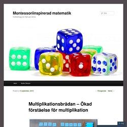 Multiplikationsbrädan – Ökad förståelse för multiplikation