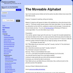 MontessoriMom.com - The Moveable Alphabet