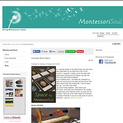 Learning about Space - MontessoriSoul - Montessori materials available for Free