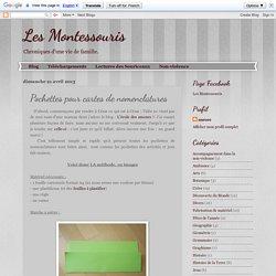 Les Montessouris: Pochettes pour cartes de nomenclatures