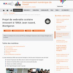 Projet de webradio scolaire innovant à l'EREA Jean Isoard, Montgeron - Environnement numérique de travail