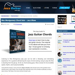Wes Montgomery Chord Solo - Jazz Blues