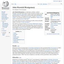John Warwick Montgomery