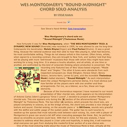 "Wes Montgomery's ""'Round Midnight"" Chord Solo Transcription & Analysis by Steve Khan"