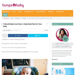 Daily meal plan for your baby