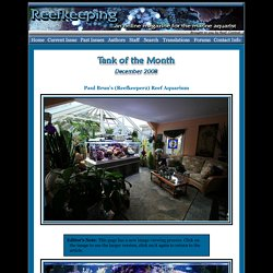 Tank of the Month - December 2008 - Reefkeeping.com
