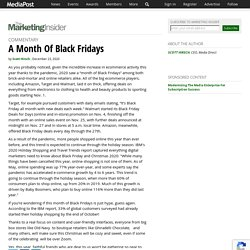 A Month Of Black Fridays 12/23/2020