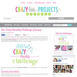 Sew Crazy Monthly Challenge: January