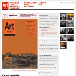 Art Monthly : Home : The UK's leading contemporary art magazine