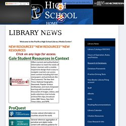 Monthly News - Educational Support - Pacifica High School