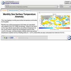 Monthly Sea Surface Temperature Anomaly