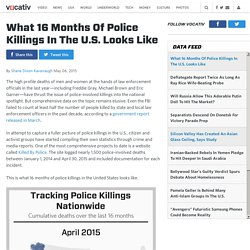 What 16 Months Of Police Killings In The U.S. Looks Like