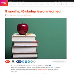5 months, 45 startup lessons learned - TNW Entrepreneur