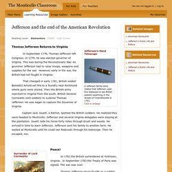 Learning Resources from Monticello: Jefferson and the end of the American Revolution