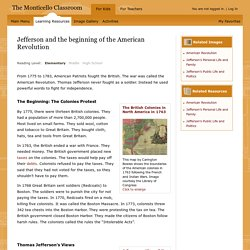 Learning Resources from Monticello: Jefferson and the beginning of the American Revolution