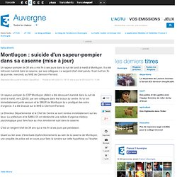 Montluçon : suicide d'un sapeur-pompier dans sa caserne (mise à jour)