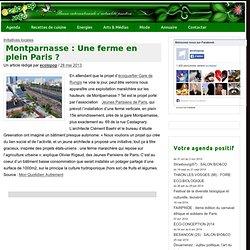 Montparnasse : Une ferme en plein Paris ? » ecoloPop