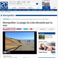 Montpellier: La plage du Lido dévastée par la mer
