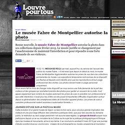 Le musée Fabre de Montpellier autorise la photo