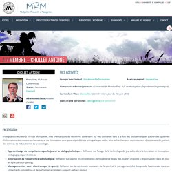 Montpellier Research in Management » Membre – Chollet Antoine