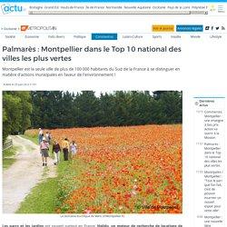 Palmarès : Montpellier dans le Top 10 national des villes les plus vertes