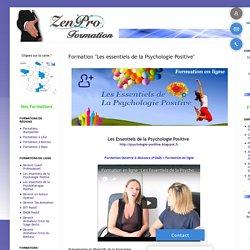 """Formation """"Les essentiels de la Psychologie Positive"""""""